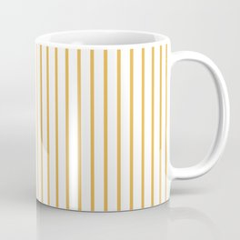 Marigold Yellow Pinstripe on White Kaffeebecher