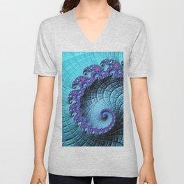 Purple Swirl Unisex V-Neck