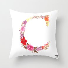 monograms - C Throw Pillow