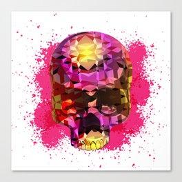 Skull with Crystal Polygon Canvas Print