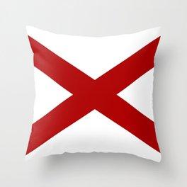 Alabama Sate Flag Throw Pillow