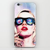 iggy azalea iPhone & iPod Skins featuring Iggy Azalea- Pink/Purple by Tiffany Taimoorazy