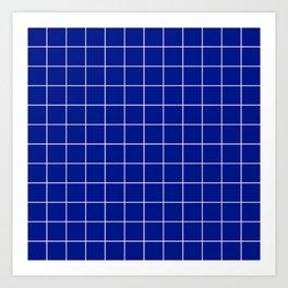 Sapphire Grid Art Print