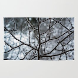 Snowy Branches Rug