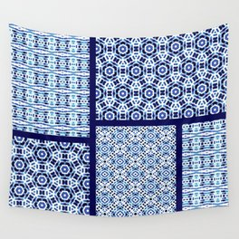 Shibori Ornament Quilt Wall Tapestry