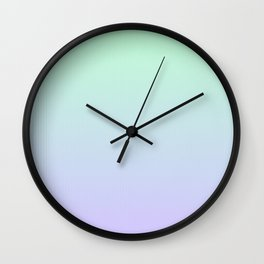 Mint Green and Lavender Ombre Wall Clock