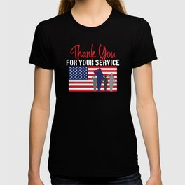 Thank You For Your Service Patriotic Veteran T-shirt