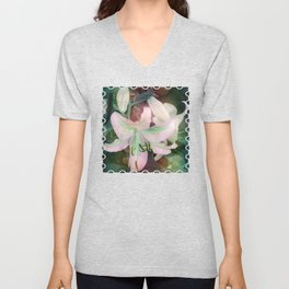 Auras Dancing with the Lilies  Unisex V-Neck