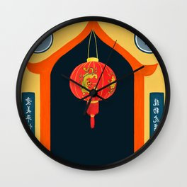 Chinese Temple Wall Clock