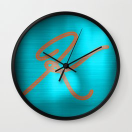 Metallic K Wall Clock