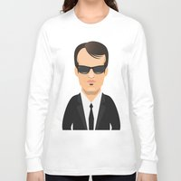 quentin tarantino Long Sleeve T-shirts featuring Tarantino - Mr. Brown by Capitoni