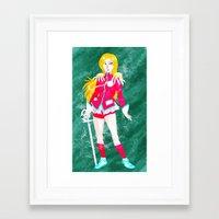 utena Framed Art Prints featuring Revolutionary Girl Utena by lolcilc