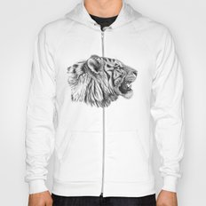 White Tiger Profile Hoody