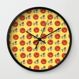 wrestler vs cactus Wall Clock