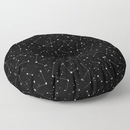 Constellations (Black) Floor Pillow