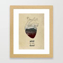 SEA IN MY HEART Framed Art Print