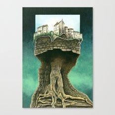 City on a tree Canvas Print