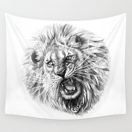 Lion roar G141 Wall Tapestry