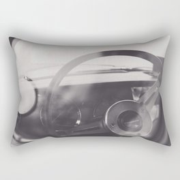 Super car details, british triumph spitfire, black & white, high quality fine art print, classic car Rectangular Pillow