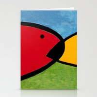 1975 Stationery Cards featuring La pesca de un Miró by Fernando Vieira