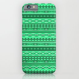 Modern Native Navajo Ethnic Tribal - Green Ruby Color iPhone Case