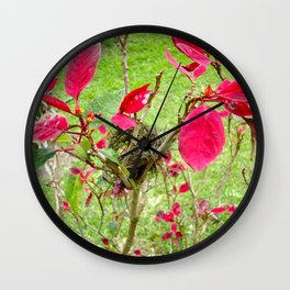 Mini Bird's Nest Wall Clock