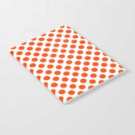 Orange and white polka dots pattern Notebook