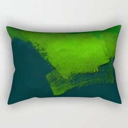 brush stroke aquamarine Rectangular Pillow