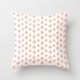 Festive Christmas Star Ornaments Throw Pillow