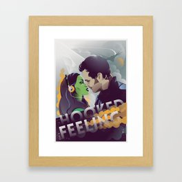 Hooked on a feeling Framed Art Print