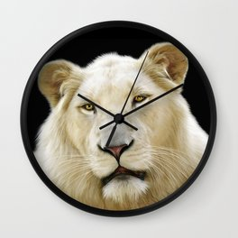 White Lion Wall Clock