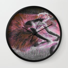 Degas The Dancer Coral Pink Wall Clock