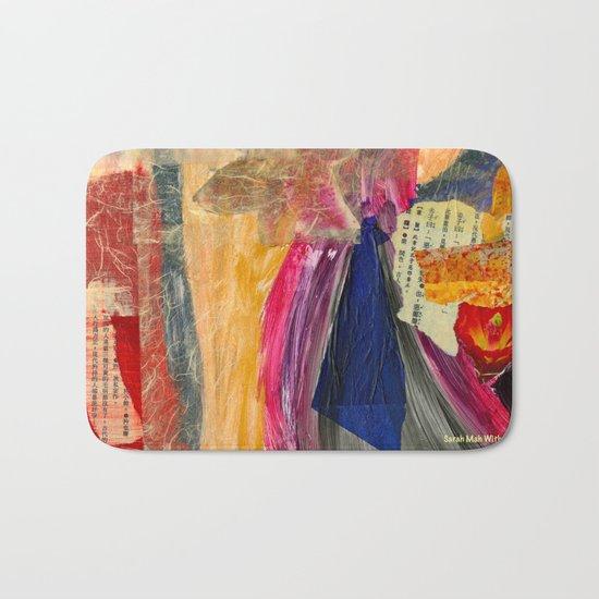 Collage Love - Asian Tie Bath Mat