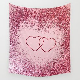 In Love Sparkling Glitter Hearts #2 #red #decor #art #society6 Wall Tapestry