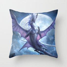 White Dragon v2 Throw Pillow