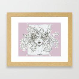 Floral Maiden - pink Framed Art Print