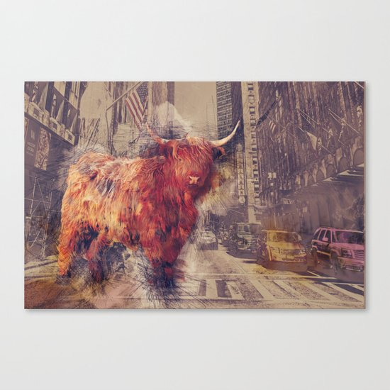 Sightseeing Cattle Canvas Print
