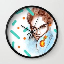 Watercolor glance Wall Clock