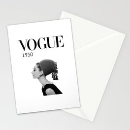 A digitally repainted  1950 Hepburn's Magazine cover Stationery Cards