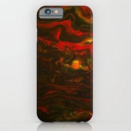 Adventurers' Rest - Acrylic Pour iPhone Case