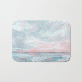 Waves of Change - Stormy Sea Seascape Bath Mat