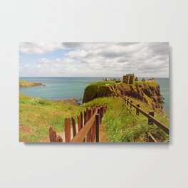 Beautiful countrys and... Scotland - Dunnotar Castle - Fine Arts Travel Photography Metal Print