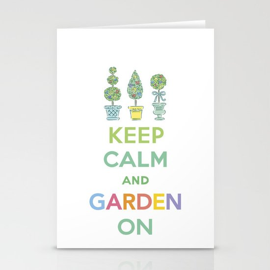 Keep Calm and Garden On Stationery Cards