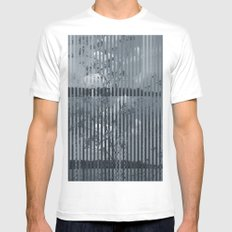 Abstract landscape Mens Fitted Tee White MEDIUM