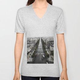 The Avenue des Champs-Elysees Unisex V-Neck