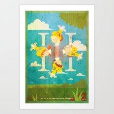 Vintage FF Poster III Art Print