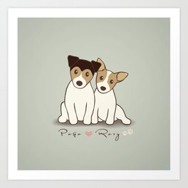 Pogo and Roxy Art Print
