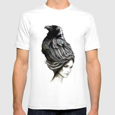 Raven Haired White Mens Fitted Tee SMALL