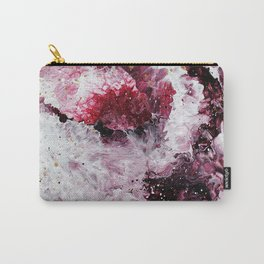 Maroon and White Abstract Painting Carry-All Pouch
