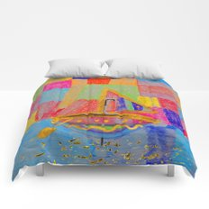 When an umbrella transforms into a boat on Christmas night Comforters